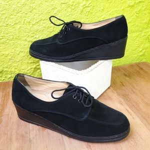 Vintage | Italian Wedge Lace Up Oxfords 9.5